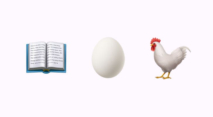 According to Genesis 1:20-22 the chicken came before the egg.